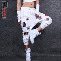DJ-29 New 2014s Sweatpants Color Korean style Dance Women's sports pants Fashion Casual Jogging femme Sport harem pants women