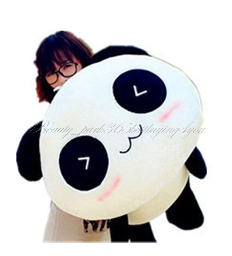 "Free Shipping 70CM 27"" Stuffed Plush Doll Toy Animal Giant Cute Panda Pillow Bolster Gift HG-0034(China (Mainland))"