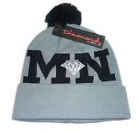 DIAMOND MN DD Beanies Hats Hip-Hop wool winter Cotton knitted warm caps Snapback hat for man and women free ship