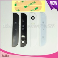 Crazy Promotion: For iPhone 5S Top and Bottom Glass Cover 100% Guarantee +3M adhesive Black /white  DHL Free shipping