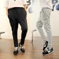 New 2014 Pants Women Print 100% Cotton Women's Cotton Sports Pants Casual plus size Loose Trousers Ankle Length Harem Pant M-XXL