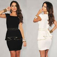 Women clothing 2014 summer elegant slim formal office dress charming butterfly women bandage dress fancy bodycon pencil dress