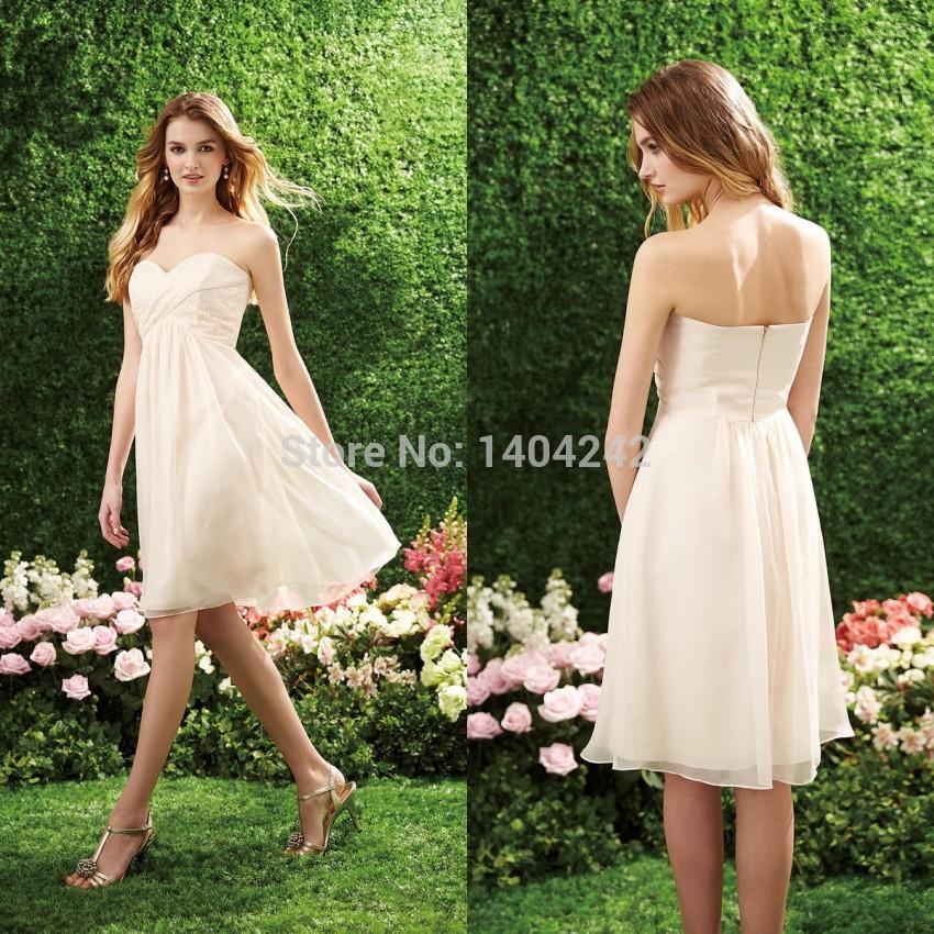 alta qualidade 2014 nova moda estilo country vestidos de dama de honra curto transformador roupas noivas para meninas feitos(China (Mainland))