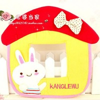 Pure cotton embroidery craft small house shape switch sticker cute cartoon socket sticker free shipping