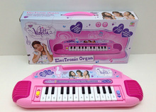 Retail Violetta Electronic Organ/baby boys girls Toy Musical Instrument/princess Piano with light  Educational Toys(China (Mainland))