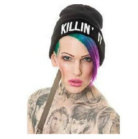 New Fashion Flat Embroidery The Killin It Beanies For Men And Women Hip Hop Hats Knitted Caps free ship