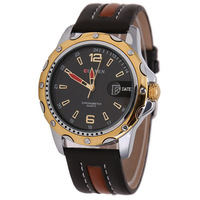 Hot Recommend! CURREN Brand Fashion Men Military Watches, Automatic Date, Waterproof Leather Quartz Watch