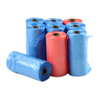 1000pcs/50rolls Dog Cat Biodegradable Waste Poop Bags Pet Scooper Trash Supplies ( Color Randomly )