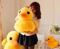"Free Shipping 1x 44CM 17"" Stuffed Plush Doll Toy Cute Yellow Duck Pillow Doll Animal Soft Toy HG-0035_50"