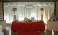 free shipping wedding backdrop drape/wedding backdrop for bride and groom / wedding