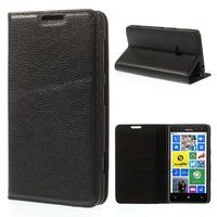 For Nokia Lumia 625 Case Luxury Litchi Texture Genuine Full Grain Leather Case With Stand for Nokia Lumia 625