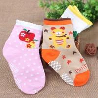 Three pairs of children's non-slip floor socks thickening shipping baby winter cotton baby sock
