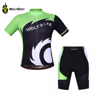 WOLFBIKE Cycling Clothing Mountain Bike Short Sleeve Jersey Shorts Set Suit Bicycle Sets Top Shirt Tights Wear Clothes ciclismo