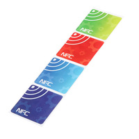 4pcs/lot NFC Smart Tags Stickers 13.56MHz Rfid Waterproof Adhesive Label for Samsung for Nokia for LG for Oppo Free Shipping