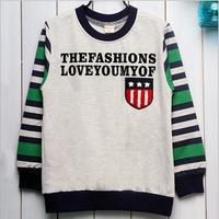 Retail Kids Hoodies Long Sleeve Baby Boys Girls Children 5-10 Years Children Clothes Cartoon Clothing,Sweatshirt Patchwork