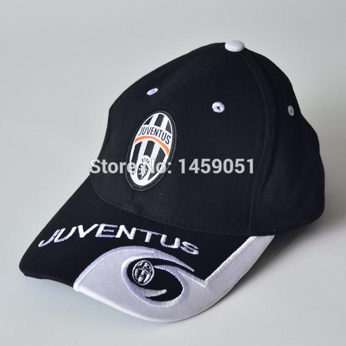 wholesale good quality 100% cotton sport soccer team Juventus baseball cap(China (Mainland))