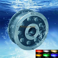 9W LED Spot Light Fountain Pool Pond Lake Underwater Lamp  Red Green Blue Yellow RGB Warm Cool White Waterproof Lamp IP68 12V