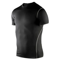 Men's Sport short Tshirt Tight-fitting short sleeved PRO sports and fitness training T-shirt sweat wicking shirt Tops short