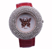Sales Promotion!Women's Apparel Crystal Quartz Watch, Hot Sales Woman, Personality Butterfly Adornment Watch