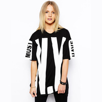 Wholesale hip-hop brand women T-shirt hot  sale 2014 fashion cotton loose shirt relax