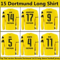Top Thai version 14/15 Borussia Dortmund Long sleeve Soccer Jerseys 3A+++Best thai quality You can Customize name number