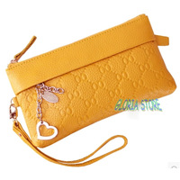 2014 New Women's Day Clutch Wallet brand designer high quality Genuine leather Coin Purse handbag fashion lady Mobile Phone Bag