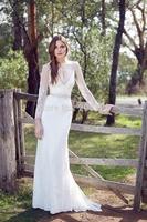 2014 New Sexy Deep V Neckline Lace Applique Mermaid Bridal Gowns  Cap Sleeve Custom Made Wedding Dresses