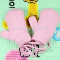 Winter with little children baby gloves for men and women Korean child baby wrap wool mittens baby mitten gloves 0-3 years