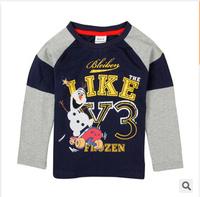 2014 autumn long-sleeve cartoon tshirt for boys children's clothing boy's 100% cotton t-shirts fashion good quality tee tops