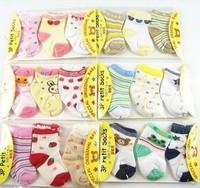 6pair/lot New Cute Baby Socks Kid  Slip-resistant Cartoon Floor Socks Newborn Girls Socks Wholesale Free Shipping #0982