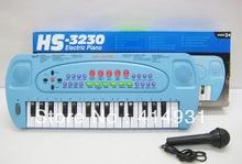 Christmas Promotion Free Shipping New Child Multifunctional Orgatron 32 Key Electronic Piano Toy Microphone HS-3230C Toys(China (Mainland))
