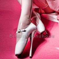 "~~Custom~~8"" Sexy Ballet Heels Pumps Shoes High Heel Ballet Dancer Pointe Shoes 6-14 NEW"