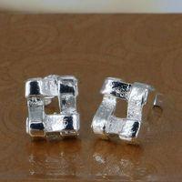 E029 Wholesale 925 silver earrings, 925 silver fashion jewelry, Groined Shape Earrings /ayhajpoasg