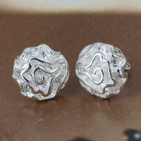 E003 Wholesale 925 silver earrings, 925 silver fashion jewelry, Rose Earrings /axiajopasf