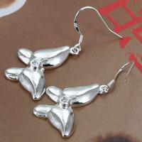 E170 Wholesale 925 silver earrings, 925 silver fashion jewelry, Inlaid Butterfly Earrings /bdaajuhasl
