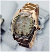 2014 New Fashion Ladies Elegant Bracelet Watch Luxury Full Gold Stainless Steel Quartz Watch Charm Mini Watch Women Dress Watch