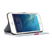 Portable flip genuine leather  case stand holder mount cover wallet for Apple Iphone 6 plus 5.5 inch