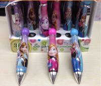 Free Shipping Elsa&Anna 10pcs/lot Frozen Ballpoint Pen Kids Study Gift School Study Goods Plastic Promotional Pen