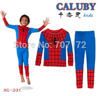 New design Spider-Man Pajamas Baby Wear boy girls Children's Cartoon  Pyjamas Suits Iron Man Kids Sleepwears Home Clothing