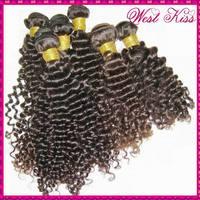 """4 bundles deao 6A Peruvian Virgin human hair deep tight curly extension weaves 12""""-28"""" WestKiss beauty"""