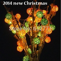 2014 Christmas DIY lights2.6M 20 PCS  light ball decorative  light AC220V creative lighting the Christmas tree is hanged