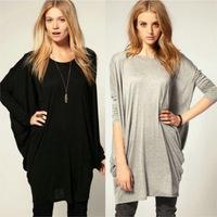 bust chest 118 110cm plus size Big loose long T-shirt ropa de mujer roupas femininas