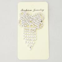 Delicate Bow-knot Shape Rhinestone Wedding Dress Brooch Corsage Pin