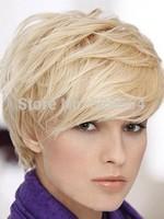 Cheap Modern Cool Sexy Short Bob Cut Platinum Blonde White Wig free shipping