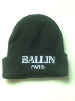 New Style of   BALLIN Paris  Beanie  hat hiphop Knitting   Hign quality suitbale for man & women's fashion in European