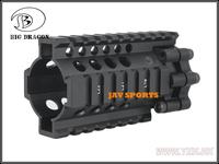 "Big Dragon LITE Style 4"" Rail Aluminum Quad Rail Handguard Mount BK,TAN+Free shipping(SKU 12050381)"