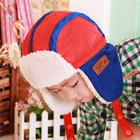 5 Colors Corduroy Russian Hat with Ear Flaps Children Bomber Hats Boys Girls Warm Winter Caps Kids Gift for Child 1~6 Years