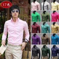 Shirt Casual dress Slim 2014 new Men clothes Fashion Long sleeve Male Autumn Spring Winter Party Plus size XXXL danz035