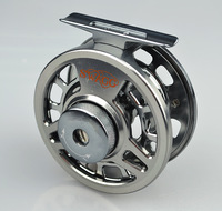 Free shipping 1pcs SHA  Single colour Aminum Die casting CNC Fly Fishing reels Ocean Fake Bait Fly Fishing Wheel