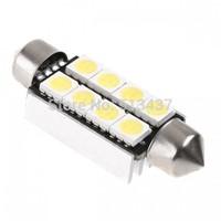 41mm 8 5050 SMD LED White Car Interior Dome Festoon Reading Light Lamp Bulb Decode